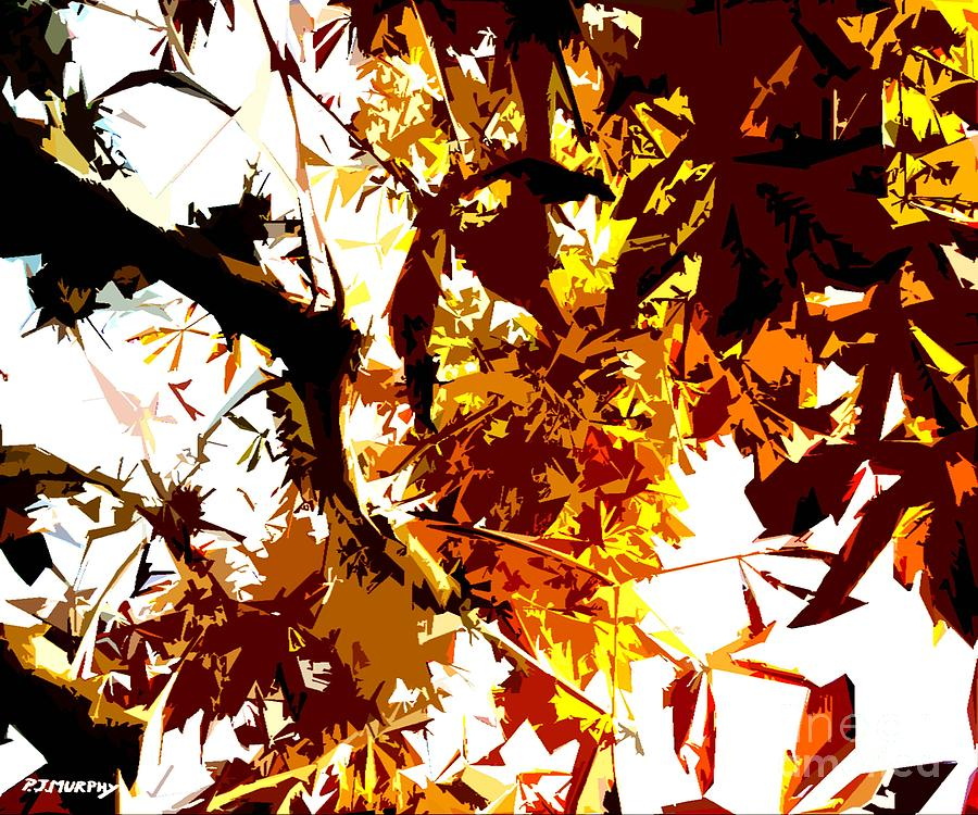 Gazing Into The Autumn Trees Painting  - Gazing Into The Autumn Trees Fine Art Print