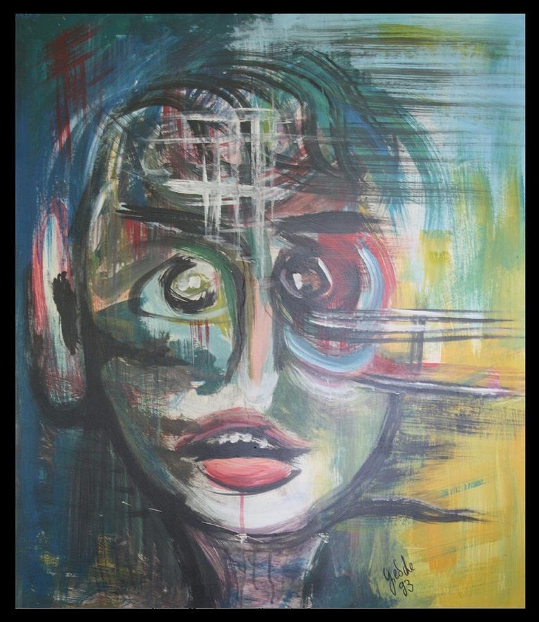 Acrylfarbe Painting - Gebrochen by Gertrude Scheffler
