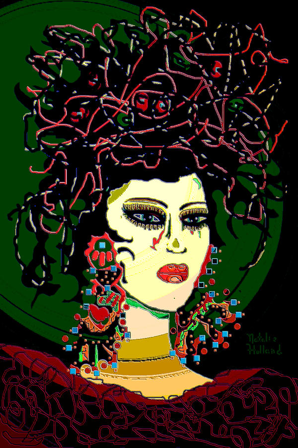 Geisha Mixed Media - Geisha 6 by Natalie Holland