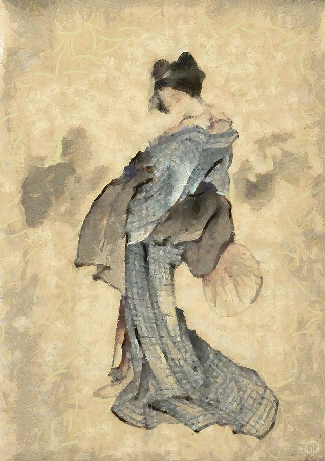 Geisha Digital Art  - Geisha Fine Art Print