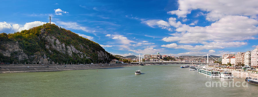 Gellert Hill And Danuber River In Budapest Photograph
