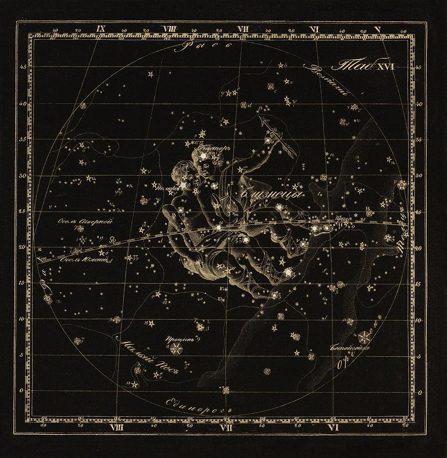 Gemini Constellation, 1829 Photograph