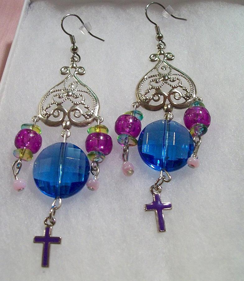 Gems And Cross Chandelier Jewelry