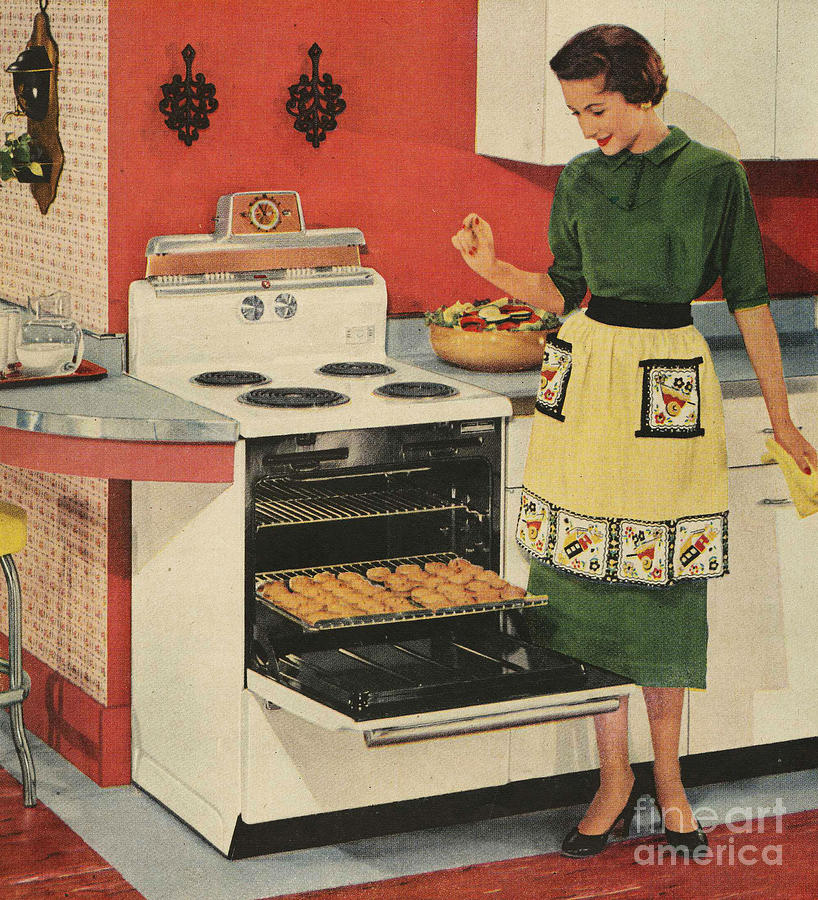1950Õs Drawing - General Electric 1950s Usa  Ovens by The Advertising Archives
