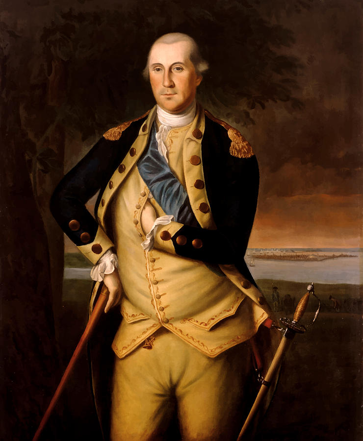 General George Washington  Painting  - General George Washington  Fine Art Print