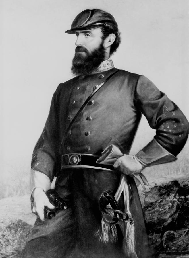 General Painting - General Thomas Stonewall Jackson by Mountain Dreams