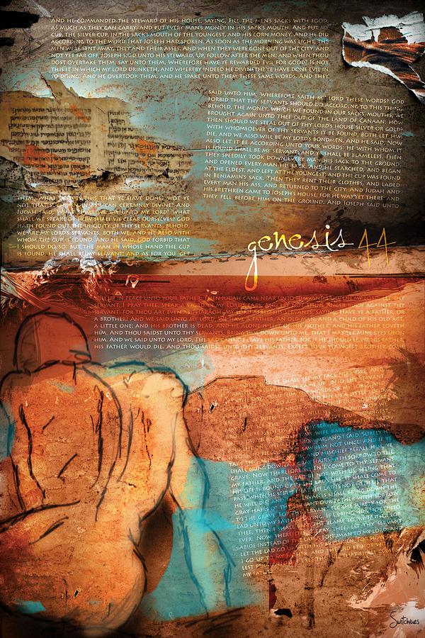 Scripture Digital Art - Genesis 44 by Switchvues Design