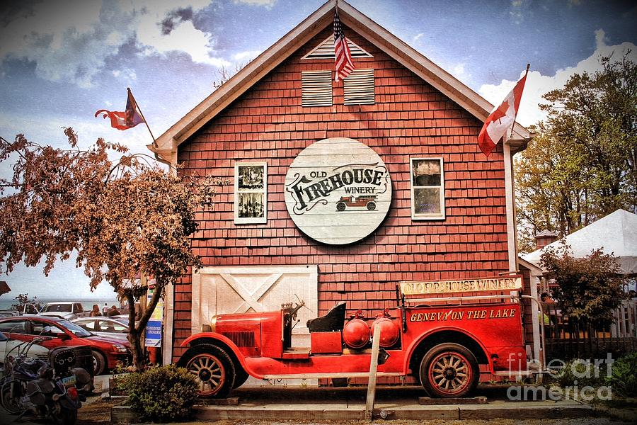 Geneva On The Lake Firehouse Photograph  - Geneva On The Lake Firehouse Fine Art Print