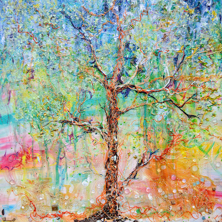 Acrylic Painting Painting - Genome by Regina Valluzzi