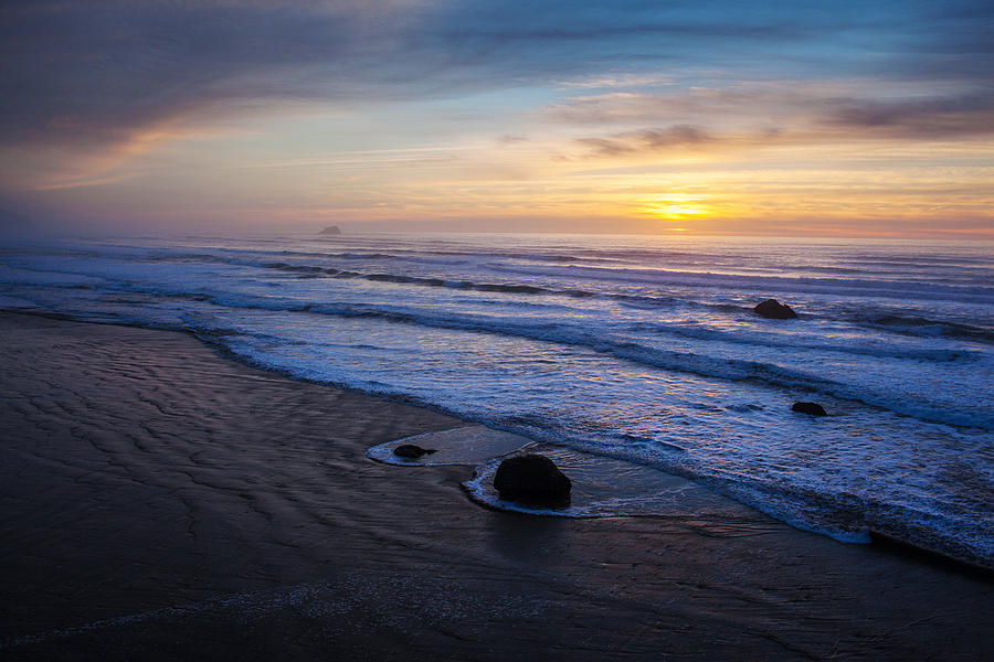 Gentle Evening Waves Photograph  - Gentle Evening Waves Fine Art Print