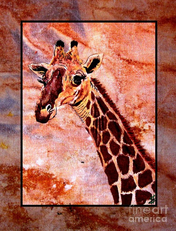 Gentle Giraffe Painting