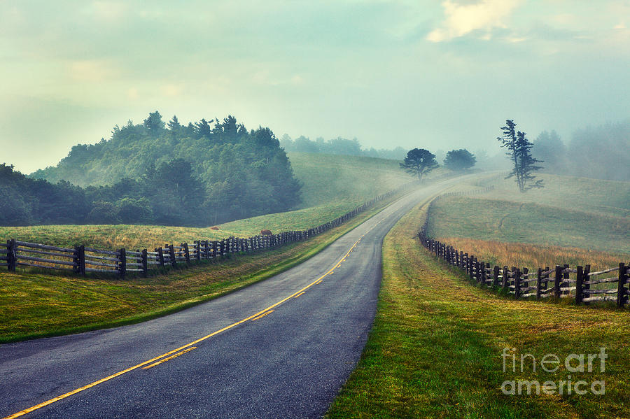 Gentle Morning - Blue Ridge Parkway II Painting  - Gentle Morning - Blue Ridge Parkway II Fine Art Print