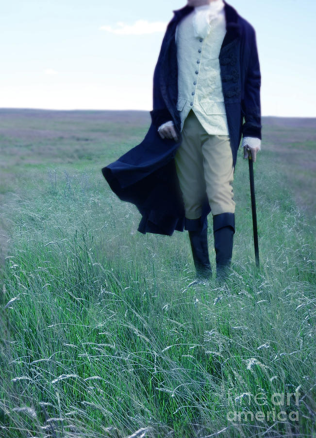 Gentleman Walking In The Country Photograph