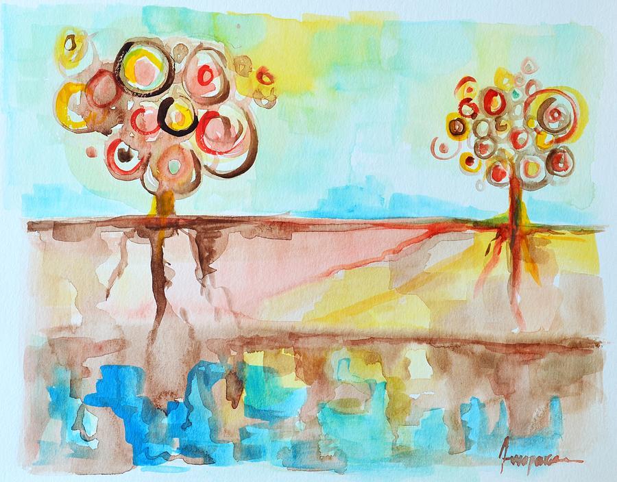 Geo Trees Painting