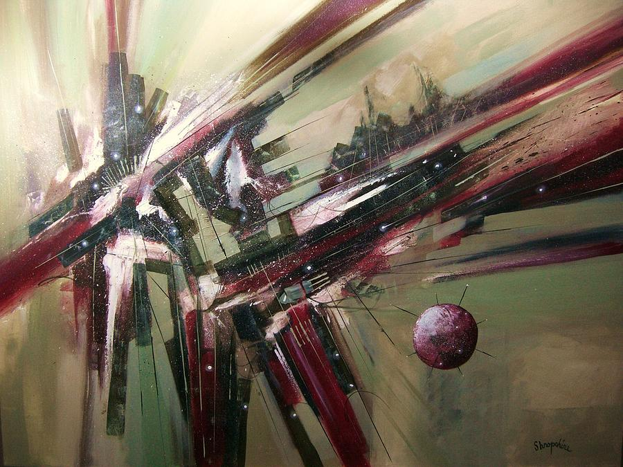 Abstract Art Painting - Geode Formation by Tom Shropshire