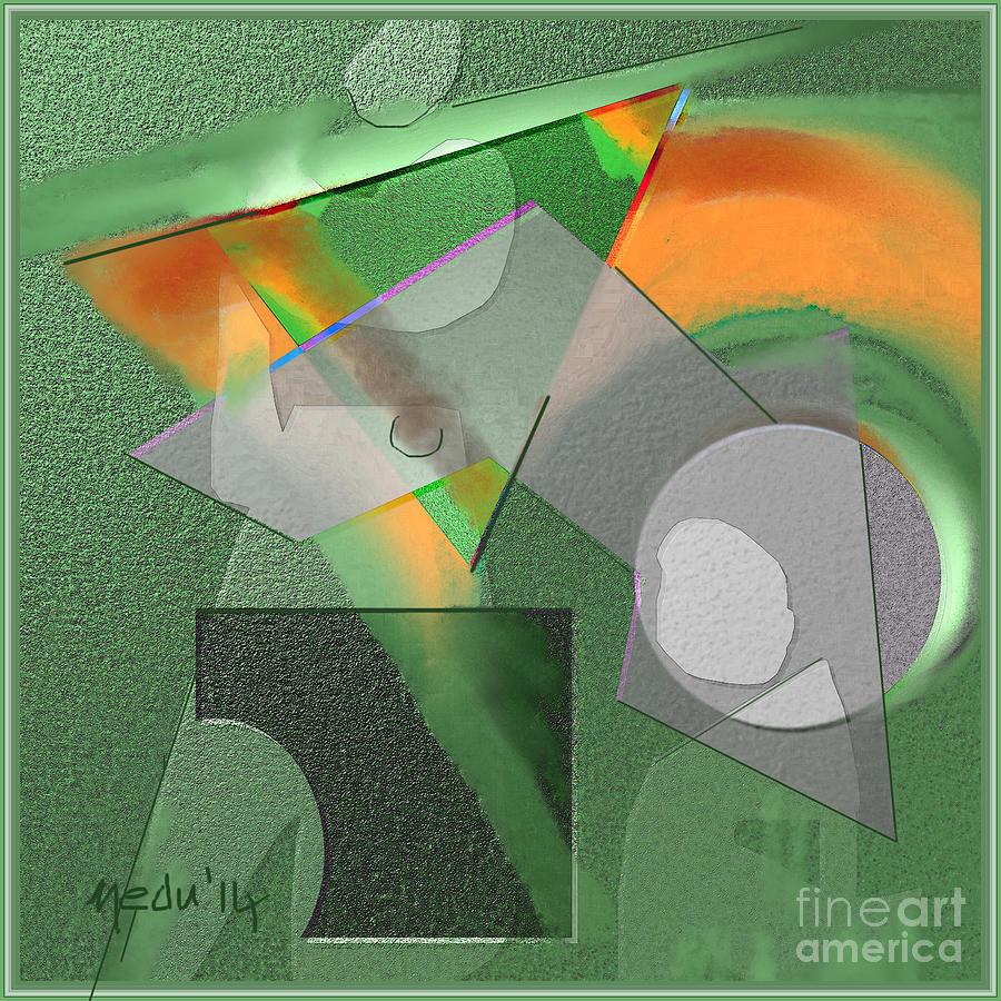 Fine Art Painting - Geometrca 240 by Nedunseralathan R