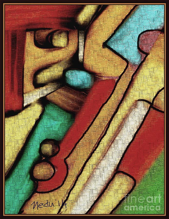 Fine Art Painting - Geometrca 292 by Nedunseralathan R