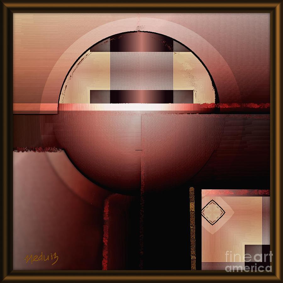 Fine Art Painting - Geometric 191 by Nedunseralathan R