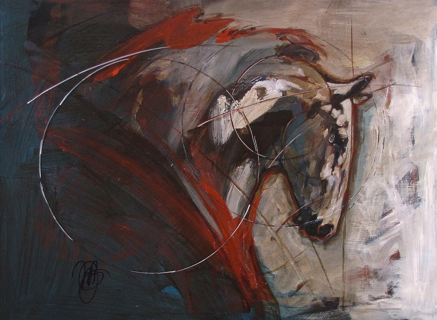 Geometric Horse II Painting 