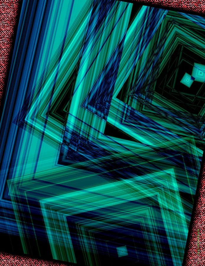 Geometric In Green Digital Art