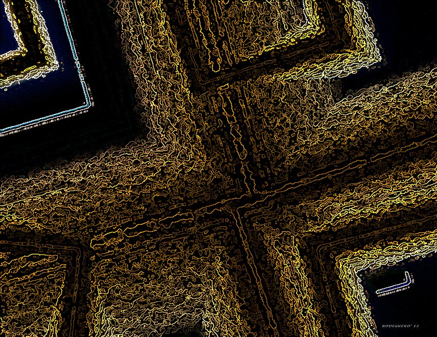 Geometric Texture And Brown Digital Art