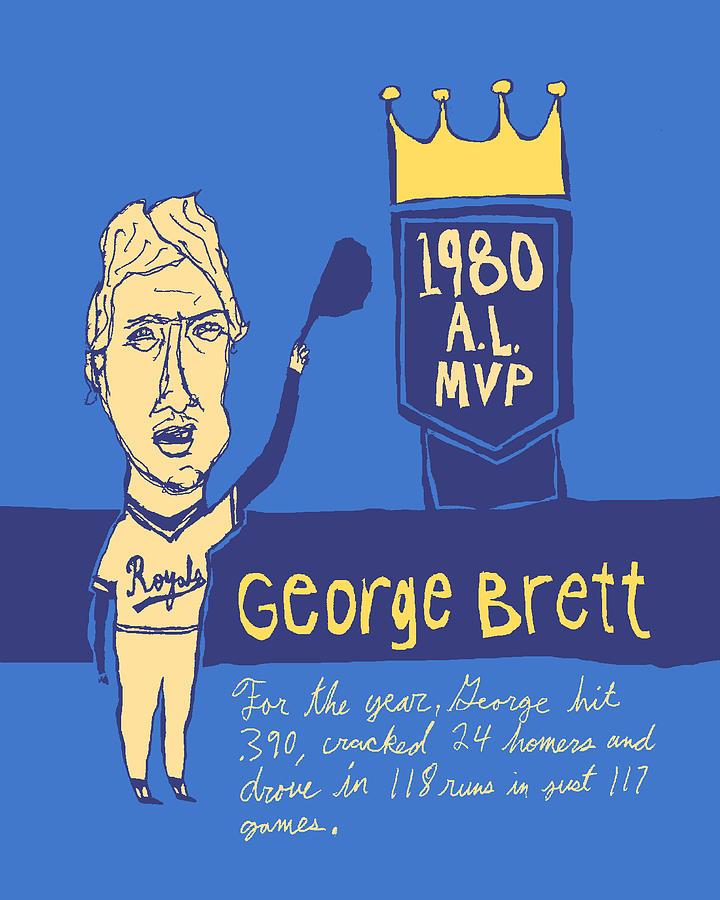 George Brett Painting - George Brett Kc Royals by Jay Perkins