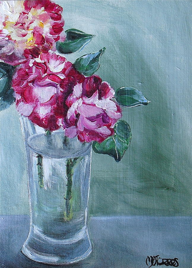 George Burns Roses Painting