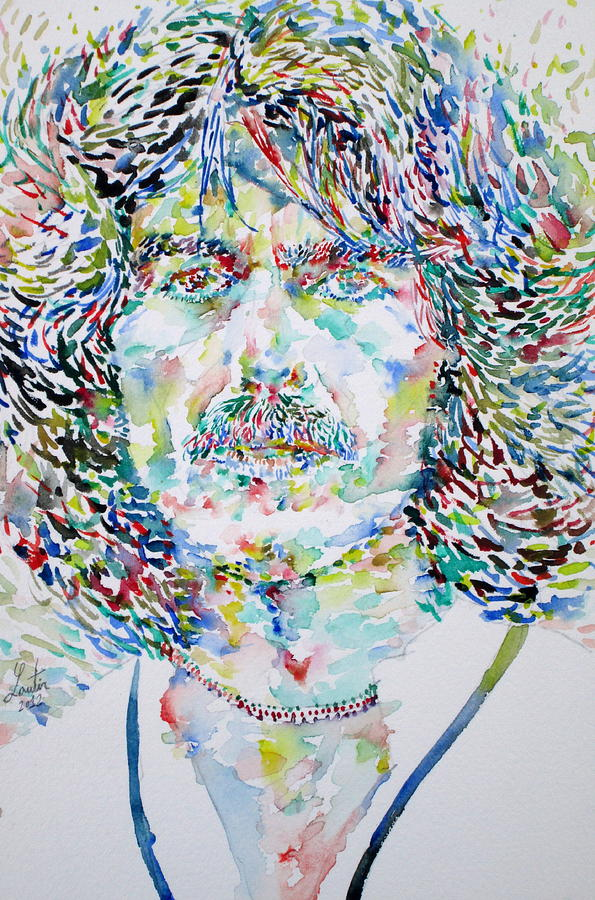 George Harrison Portrait.2 Painting  - George Harrison Portrait.2 Fine Art Print