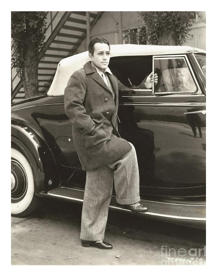 George Raft W Lincoln Photograph by CSlater