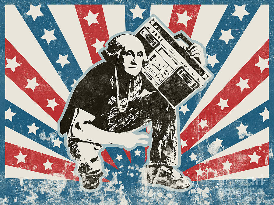 George Washington - Boombox Painting