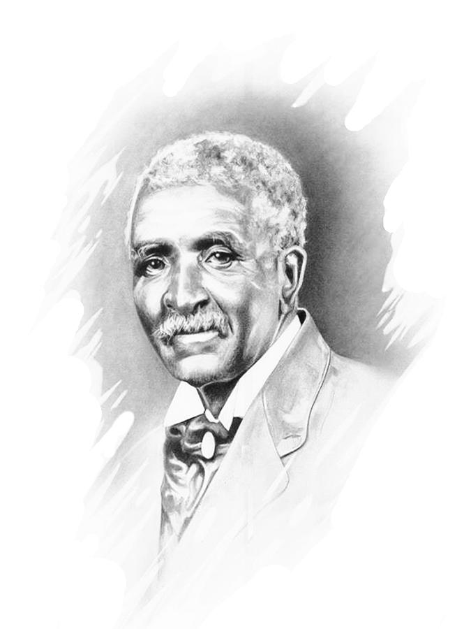 George Washington Carver Drawing  - George Washington Carver Fine Art Print