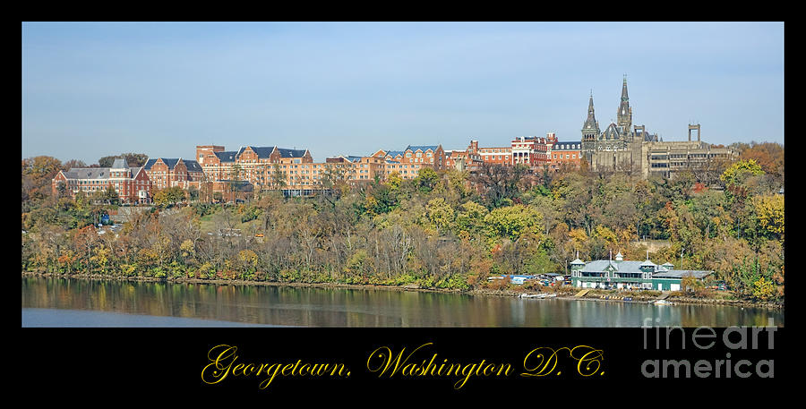 Washington Photograph - Georgetown Poster by Olivier Le Queinec