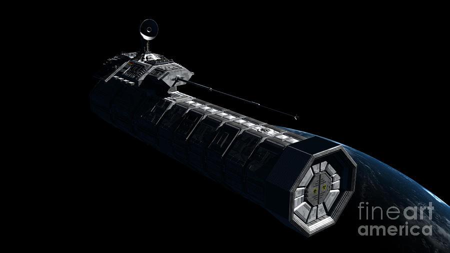German Orbital Weapons Platform Digital Art