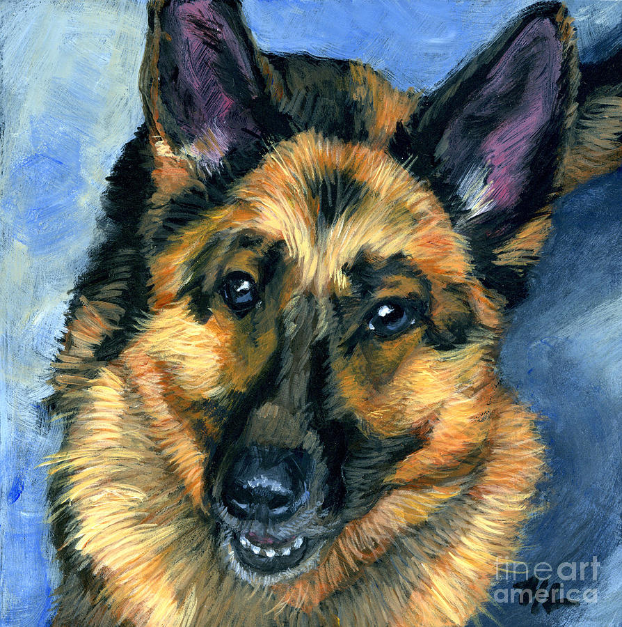 German shepherd painting german shepherd by hope lane
