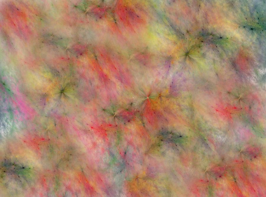Fractals Digital Art - Getting Along by Betsy Knapp