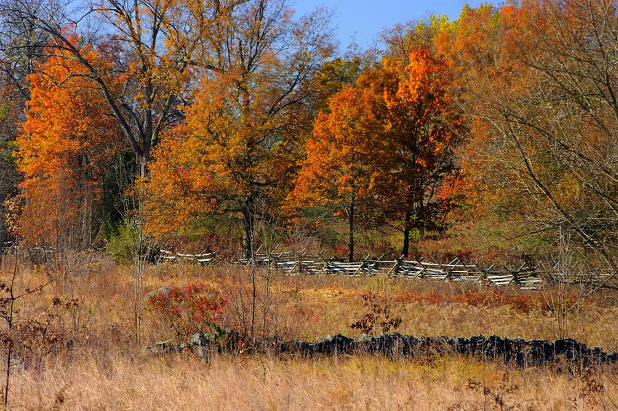Gettysburg At Rest - Autumn Looking Towards The J. Weikert Farm Photograph