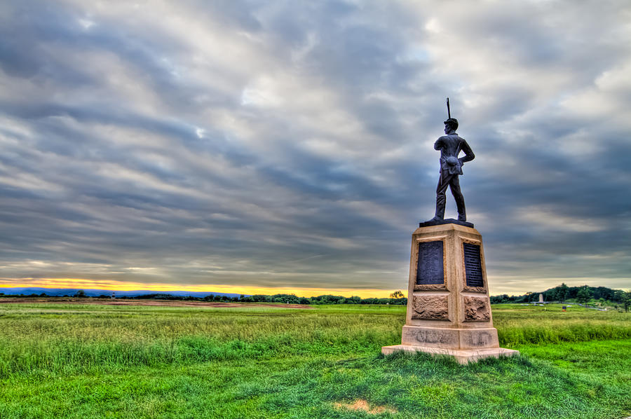 Adams Photograph - Gettysburg Battlefield Soldier Never Rests by Andres Leon