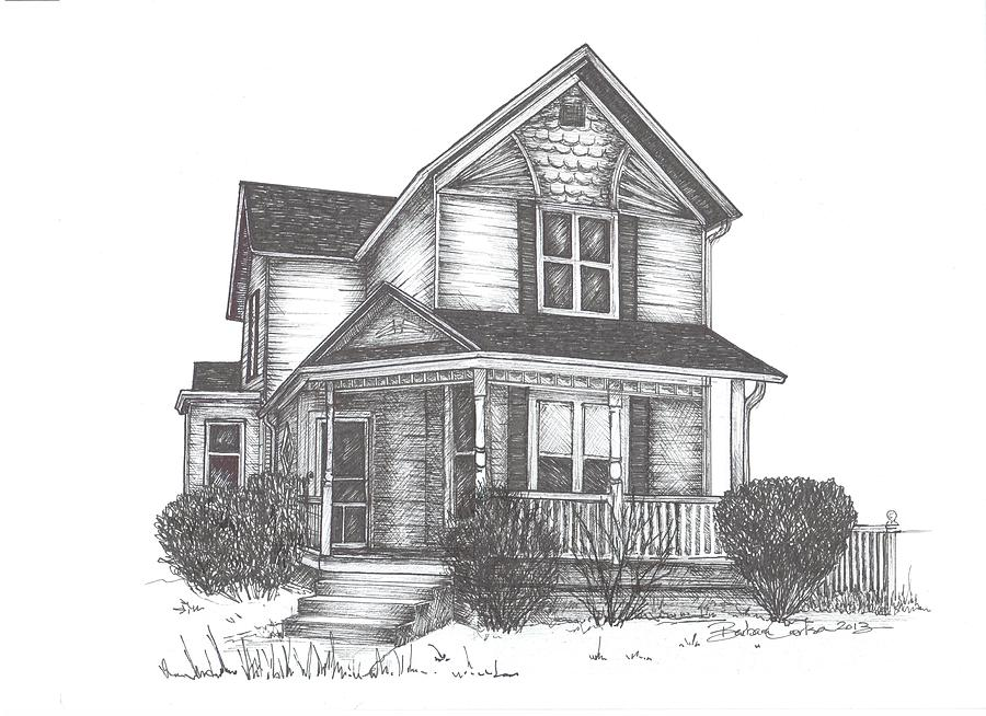 Gh Home Drawing  - Gh Home Fine Art Print