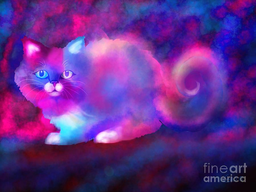 Cat Drawing - Ghost Cat 2 by Nick Gustafson