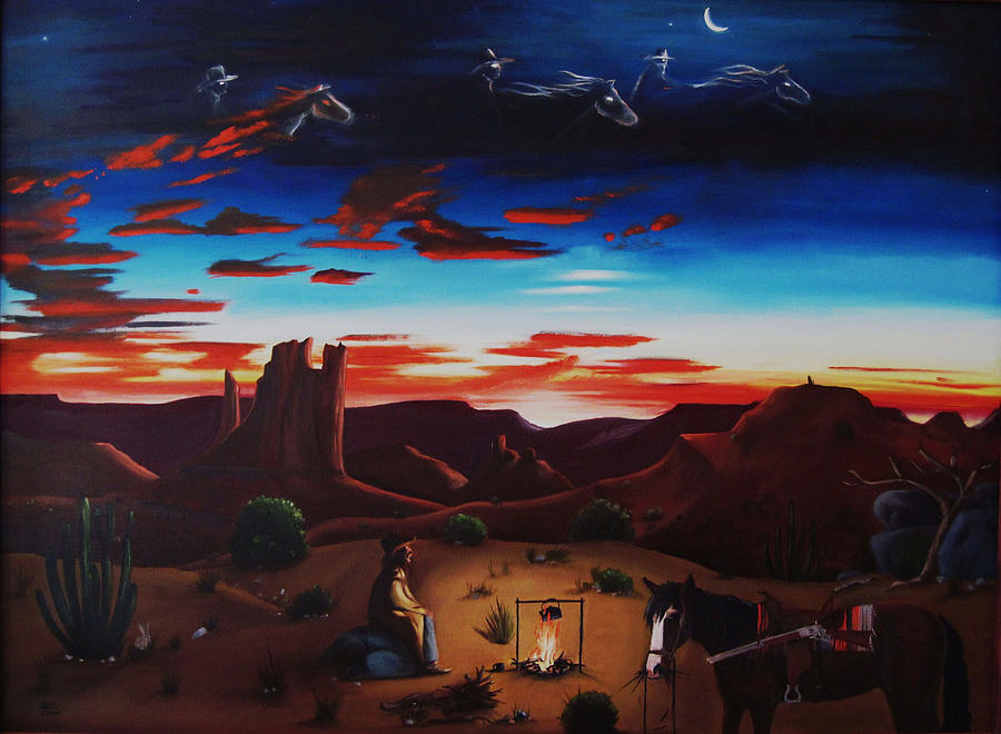 Ghost Riders In The Sky Painting