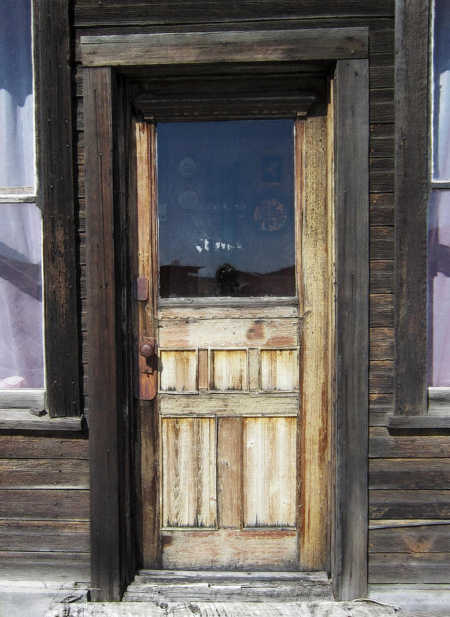 Ghost Town Handcrafted Door Photograph