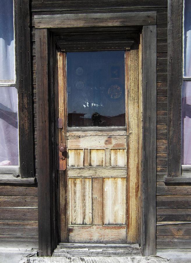 Door Photograph - Ghost Town Handcrafted Door by Daniel Hagerman