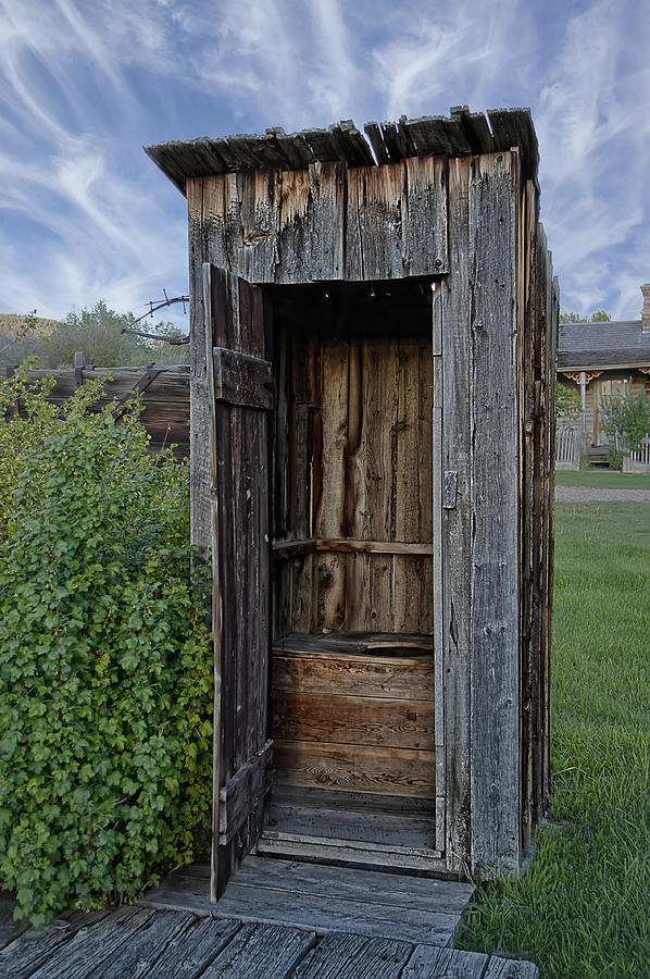 Outhouse Photograph - Ghost Town Outhouse - Montana by Daniel Hagerman