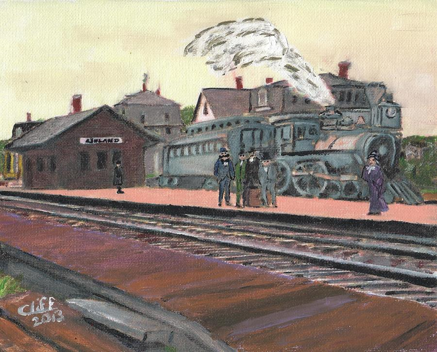 Transporttaion Painting - Ghost Train by Cliff Wilson
