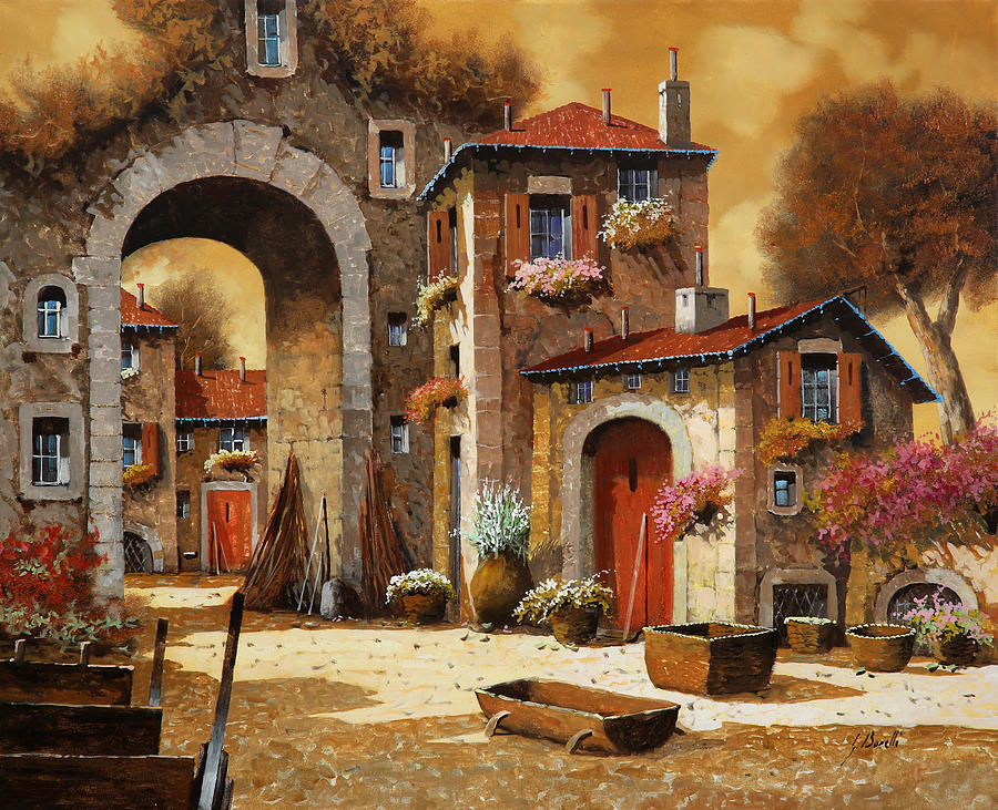 Yellow Sky Painting - Giallo by Guido Borelli
