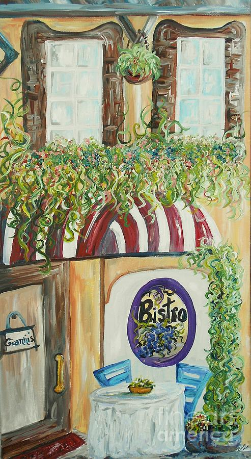 Italian Painting - Giannis Bistro by Eloise Schneider