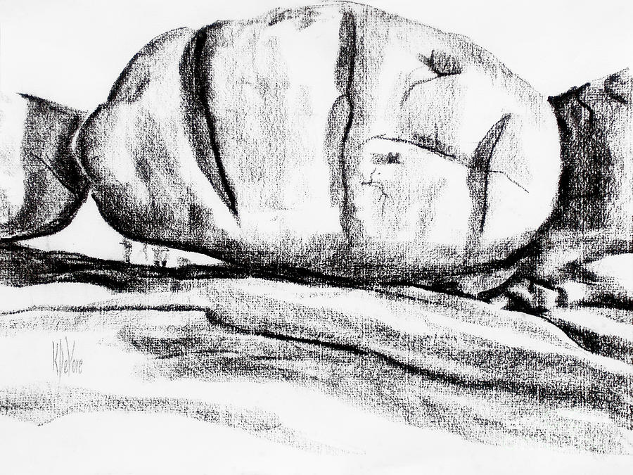 Giant Baked Potato At Elephant Rocks State Park Drawing  - Giant Baked Potato At Elephant Rocks State Park Fine Art Print