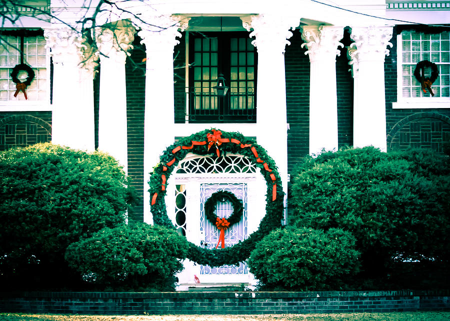 Giant Photograph - Giant Green Wreath by Audreen Gieger-Hawkins