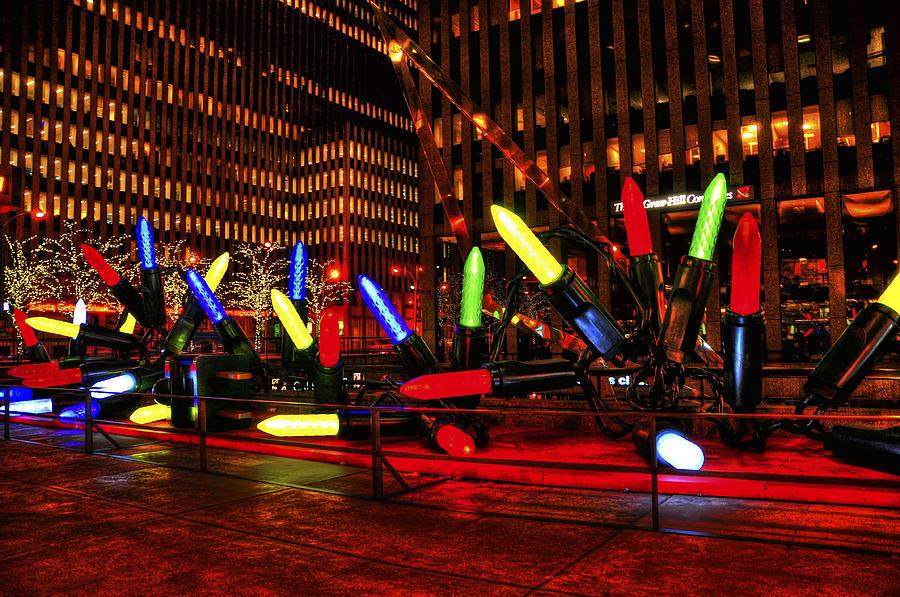 Christmas Photograph - Giant Nyc Christmas Lights by Randy Aveille