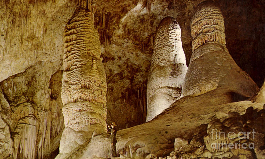 Giant Twin Domes At Carlsbad Caverns Photograph